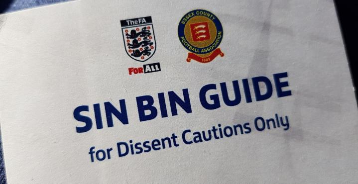 Reminder to clubs about essential sin-bin training
