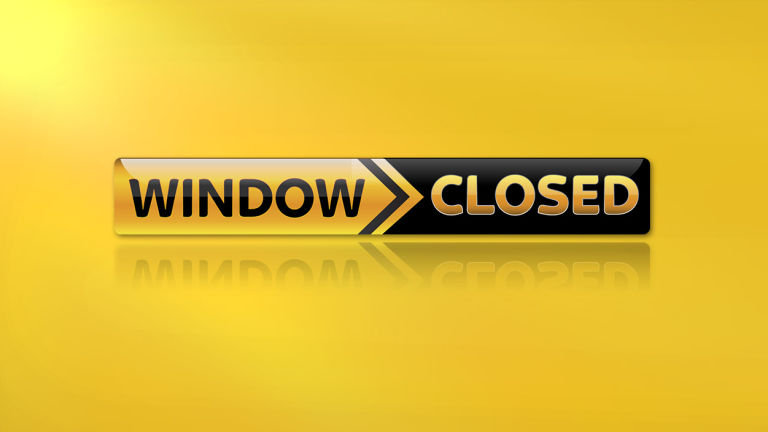 Registrations and transfers window NOW CLOSED